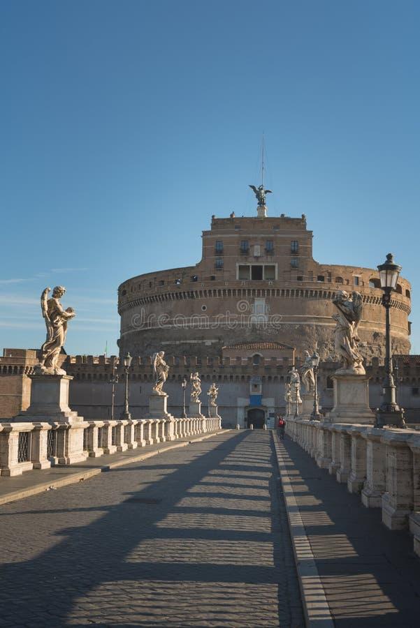 Castel Sant Angelo ou mausoléu de Hadrian em Roma Itália fotos de stock royalty free