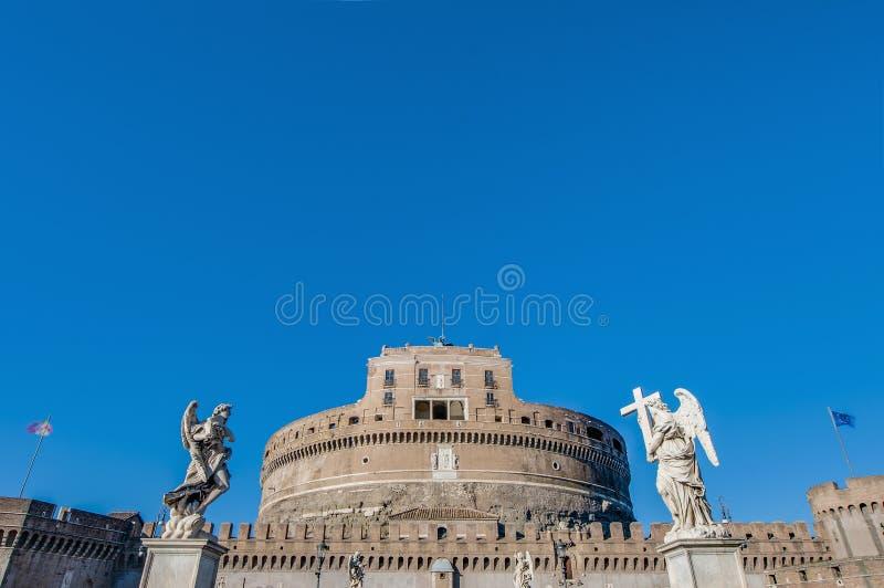 Castel Sant Angelo in Parco Adriano, Rome, Italië royalty-vrije stock afbeelding