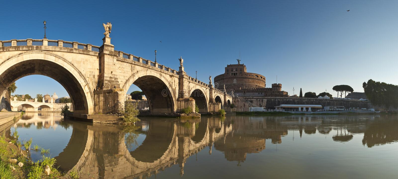 Castel Sant'angelo, Roma imagem de stock