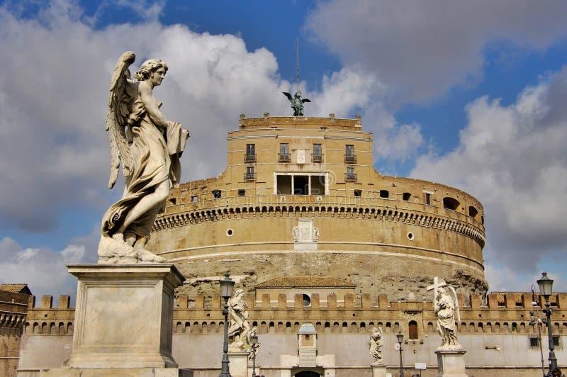 Castel Sant'Angelo in Rome, Italië. stock foto