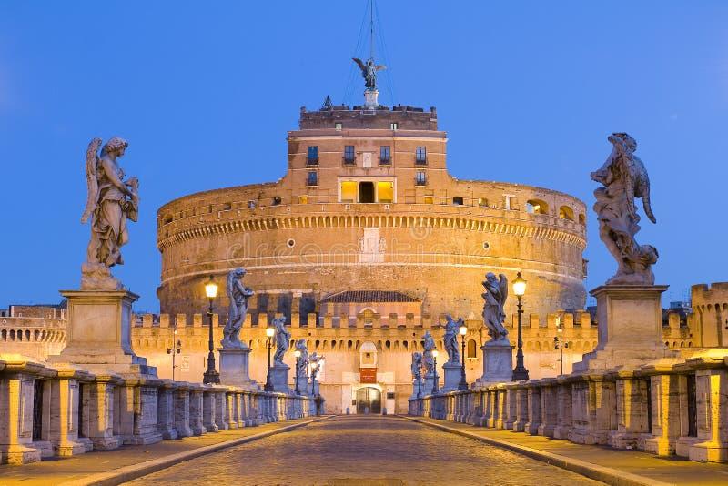 Castel Sant'angelo in Rome, Italië royalty-vrije stock afbeeldingen