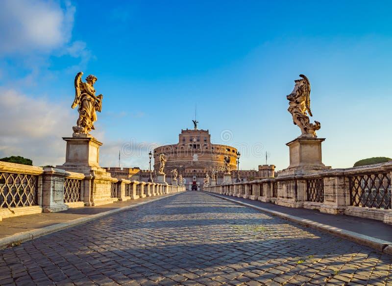 Castel Sant ' Angelo - Rome - Italië stock afbeeldingen