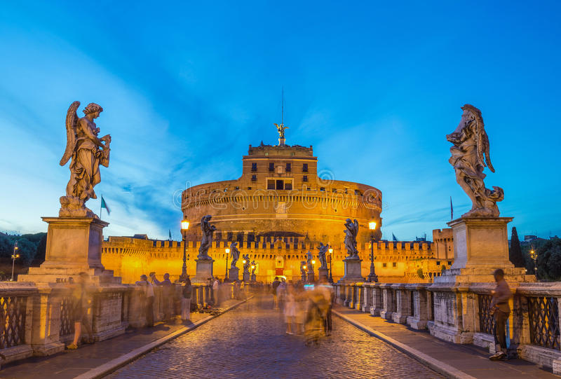 Castel Sant ' Angelo - Rome - Italië royalty-vrije stock afbeelding