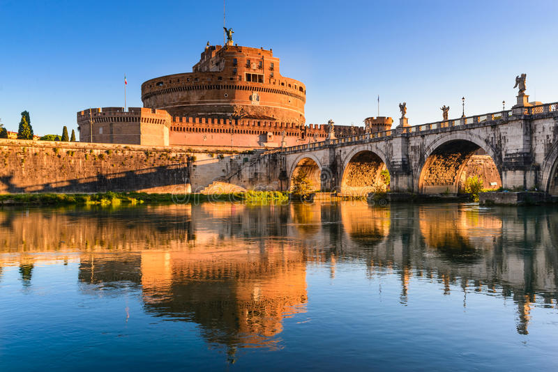 Castel Sant Angelo Rome, Italien royaltyfria foton