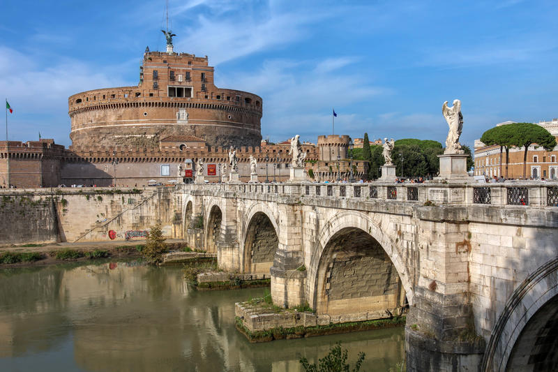 Castel Sant'Angelo, Rome, Italy stock photos