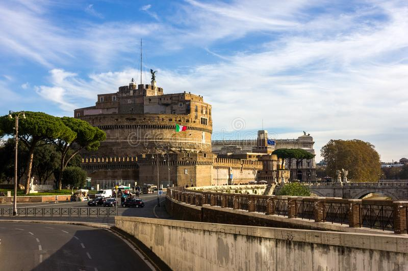 Castel Sant Angelo, Rome, Italy stock photography