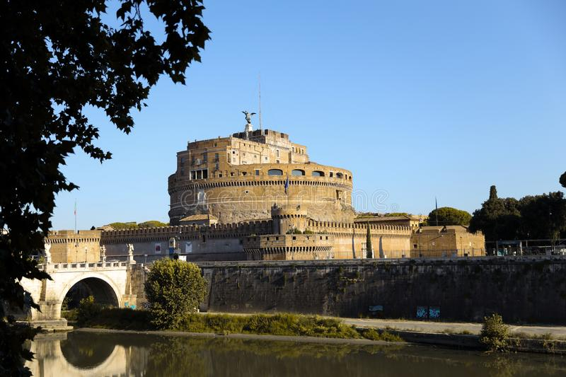 Castel Sant`Angelo in Rome royalty free stock photos