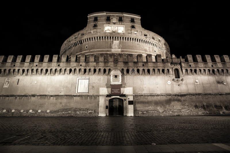 Castel Sant ' Angelo (Santangelo) Rome - Italië stock afbeeldingen