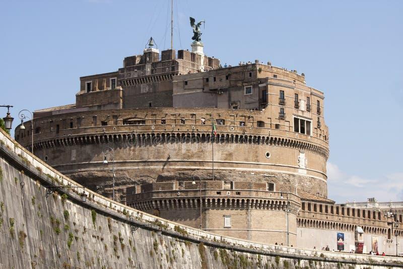 Castel Sant ' Angelo (Santangelo) Rome - Italien arkivbilder
