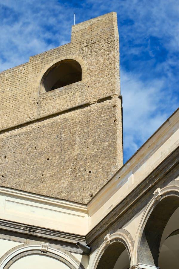 Castel Sant Elmo, Nápoles foto de archivo