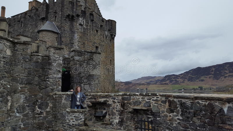 Castel in scottland stock afbeelding