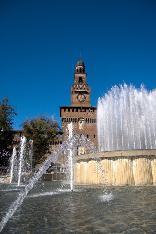 Download Castel sforzesco stock image. Image of fountain, milano - 2735389