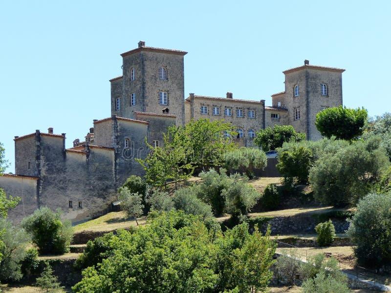 Castel Tourrette-Levens w po?udnie Francja zdjęcie royalty free