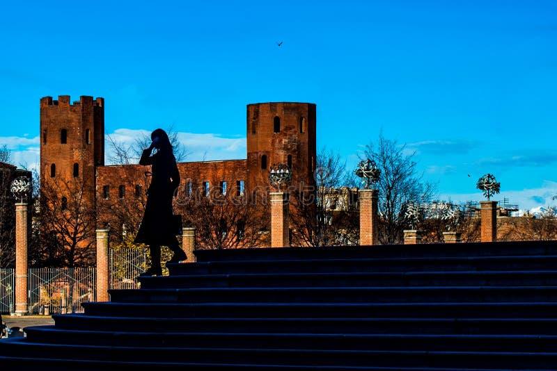 Castel Turín Italia imagen de archivo libre de regalías
