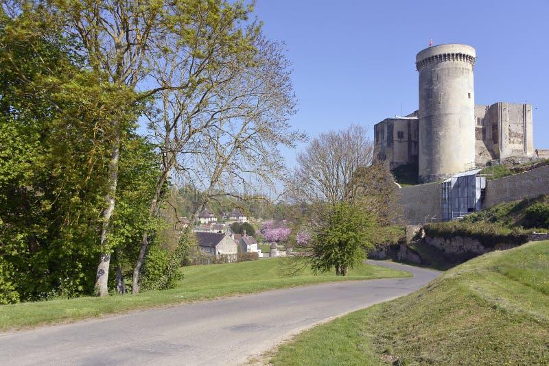 Castel von Falaise in Frankreich stockbild