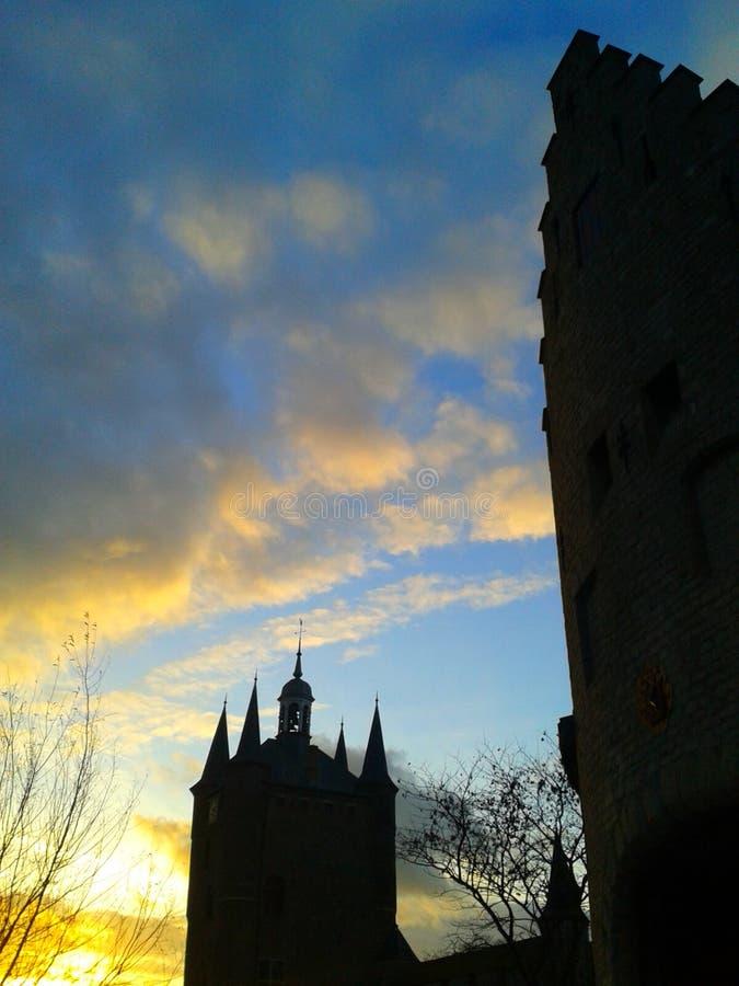 Castel Wall Tower fotos de archivo