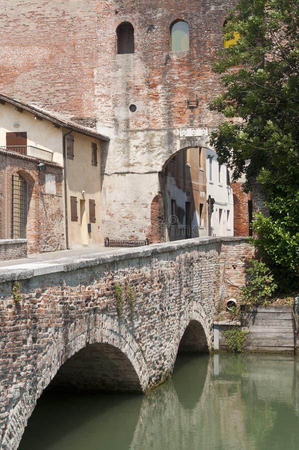Castelfranco Veneto (Italy) - Entrance royalty free stock image