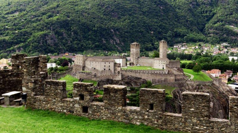 Castelgrande贝林佐纳,提契诺州,瑞士 库存图片