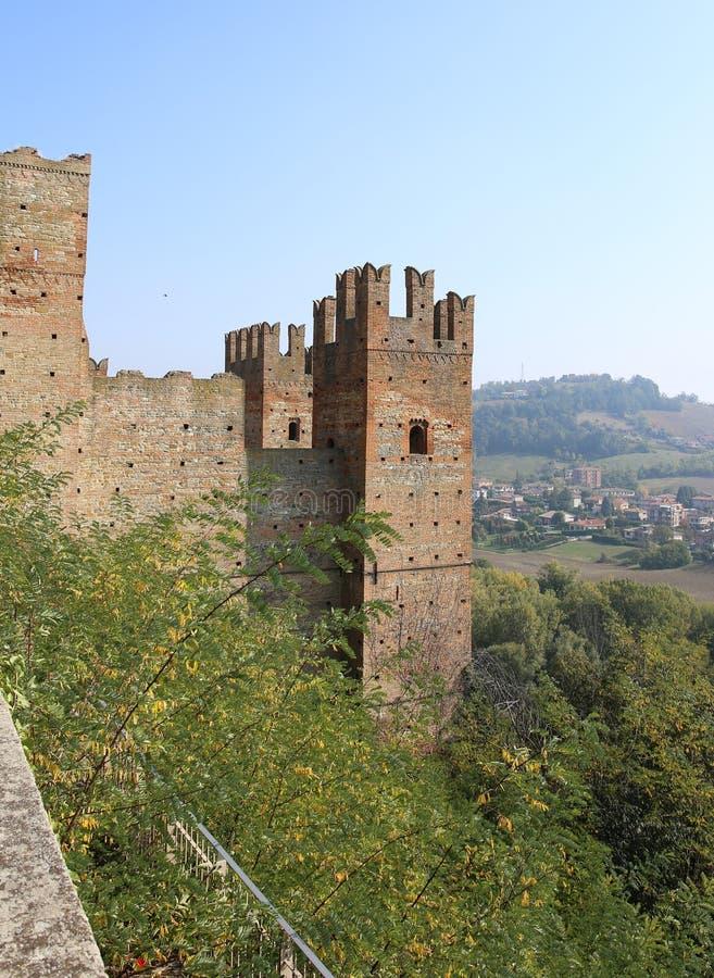 """Castell """"Arquato fotografia stock libera da diritti"""