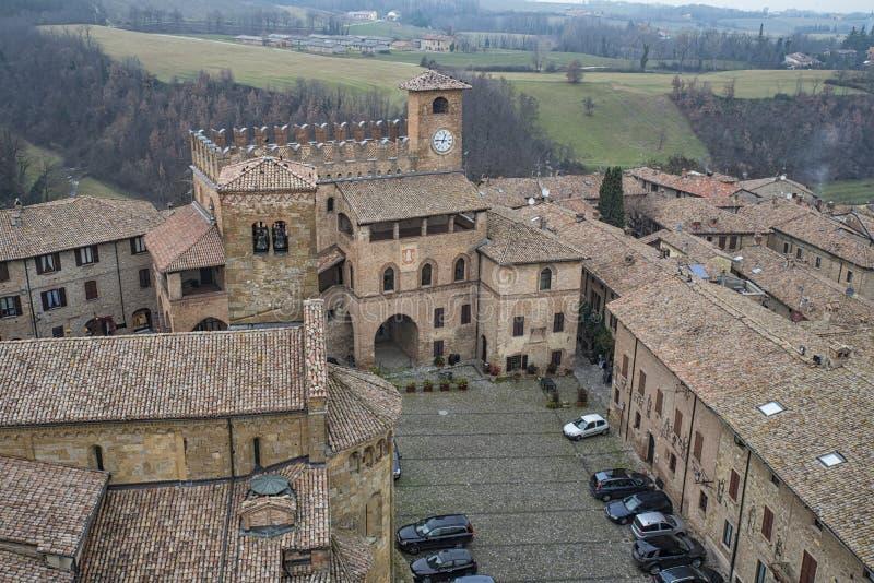 Castell'Arquato immagini stock libere da diritti