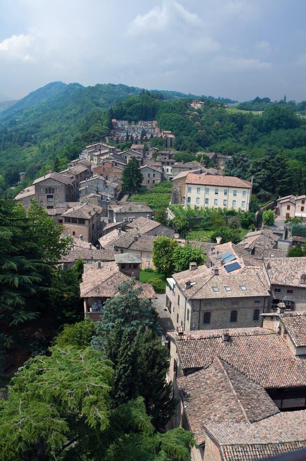 Castell'arquato. Emilia-Romagna. Italië. stock foto