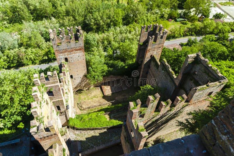 Castell Arquato in Italy stock photos