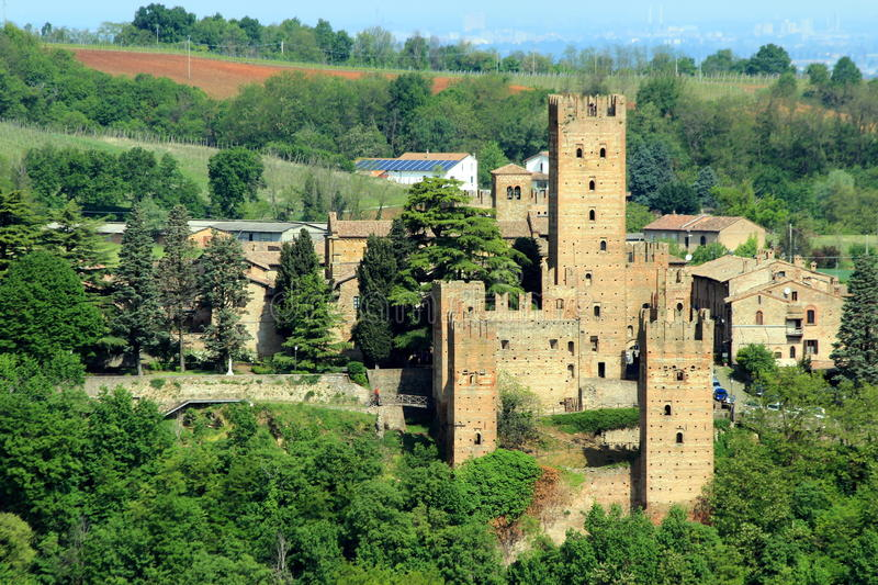 Castell'Arquato, a medieval village in northern Italy royalty free stock photo