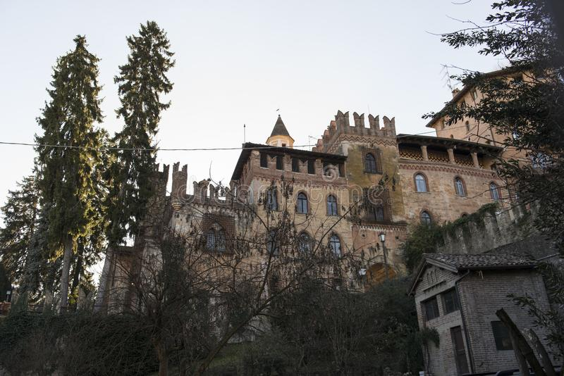 Castell ` Arquato, middeleeuwse stad stock fotografie