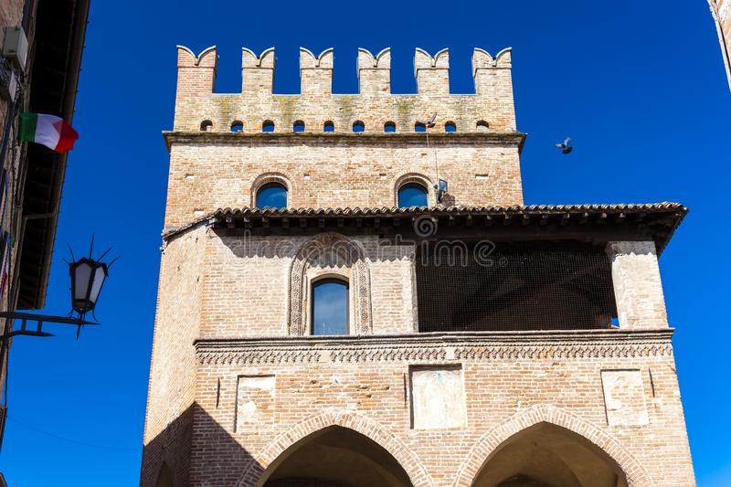 Castell Arquato in north Italy royalty free stock photo