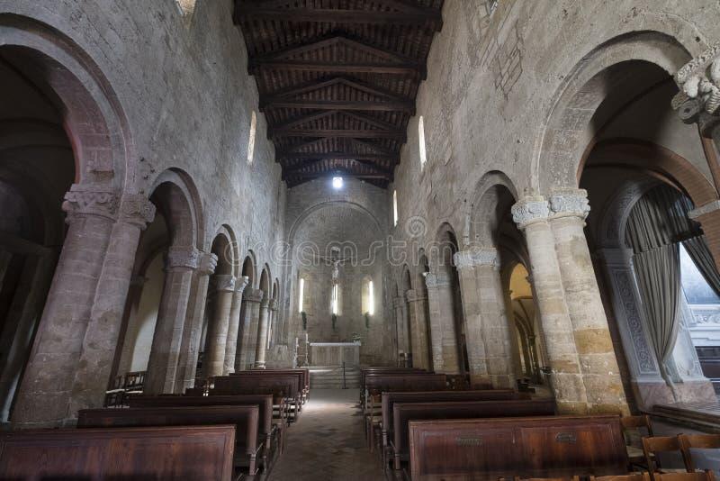 Castell`Arquato Piacenza, Italy, Santa Maria church interior royalty free stock photography