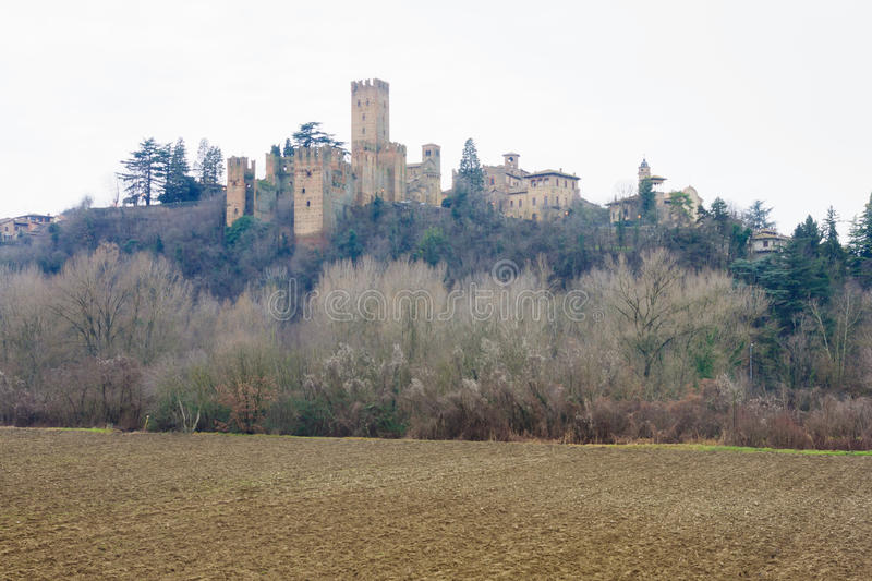 Castell'Arquato stock photo