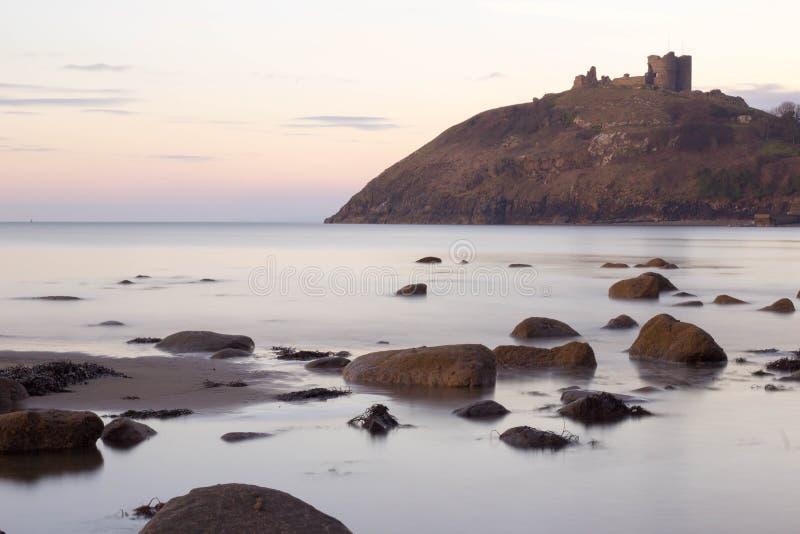 Castell criceth Wales royaltyfri foto