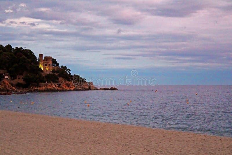 Castell d'en Plajain Lloret de Mar, Spain royalty free stock photo