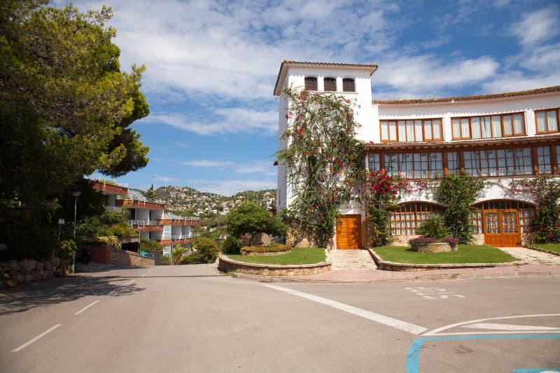 Castell D ` Engelse Plajan op Costa Brava in Lloret de Mar, Spanje royalty-vrije stock foto