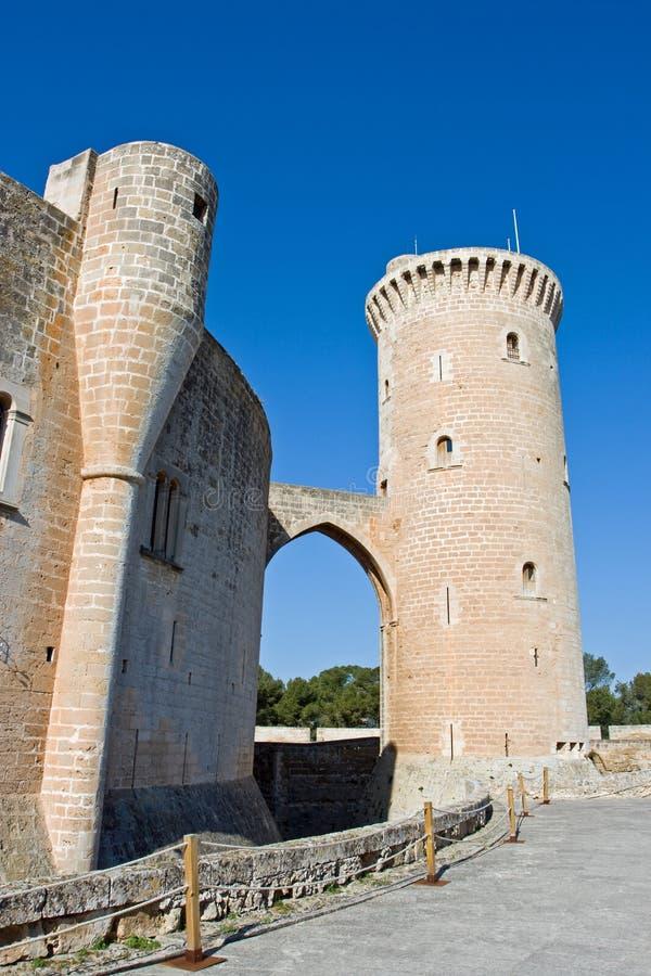 Castell DE Bellver royalty-vrije stock foto's