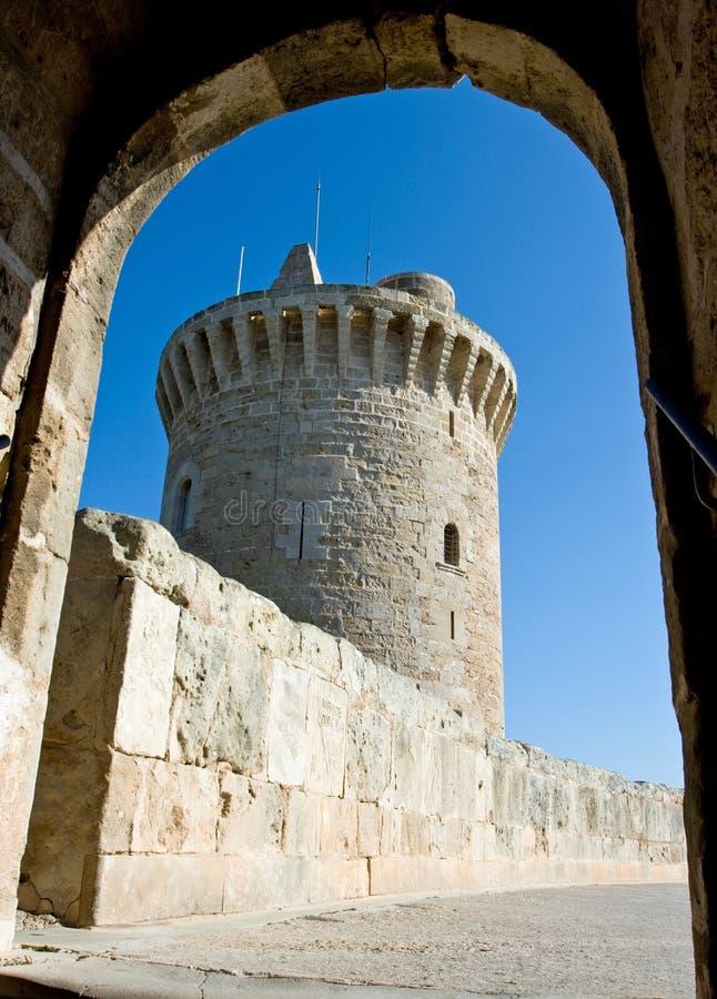 Castell DE Bellver stock afbeeldingen