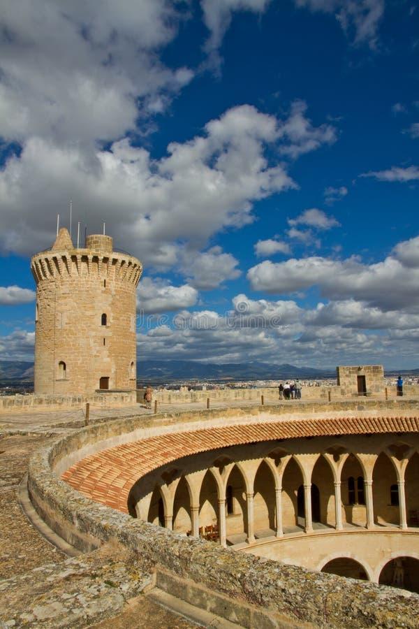 Castell DE Bellver royalty-vrije stock afbeelding