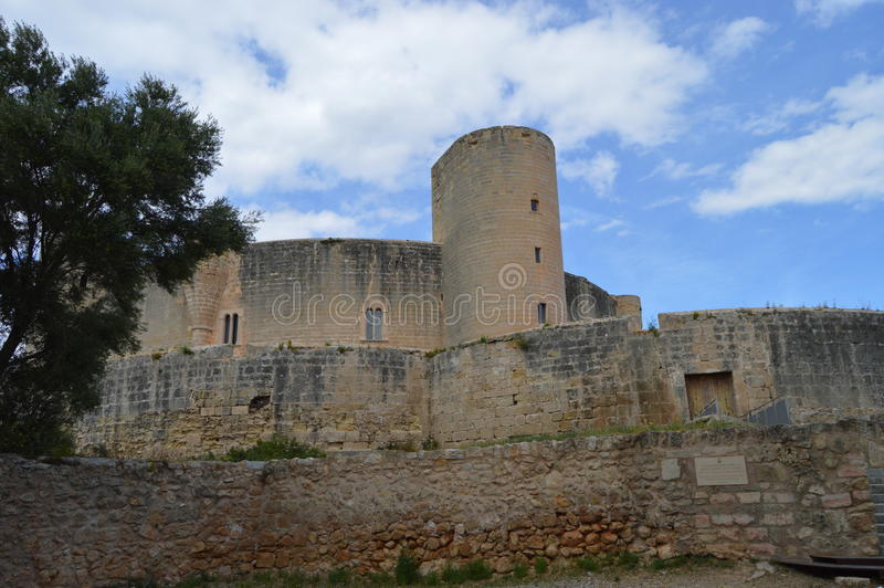 Castell de Bellver Espanha imagens de stock royalty free