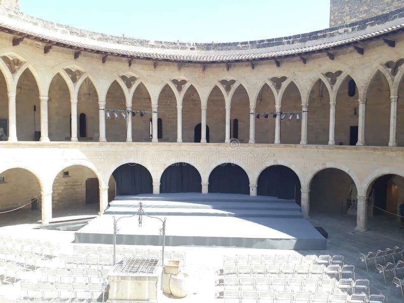 Castell DE Bellver Mallorca stock fotografie