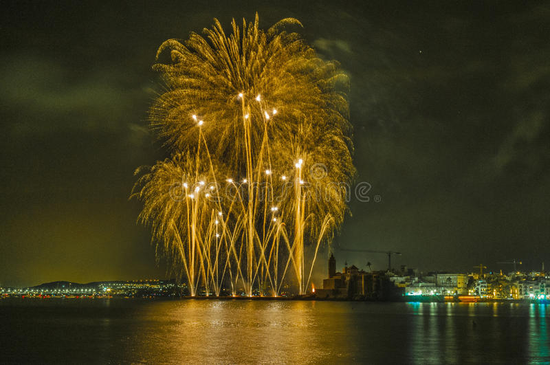 Download Castell De Foc Within Festa Major Celebrations Editorial Stock Photo - Image: 27297928