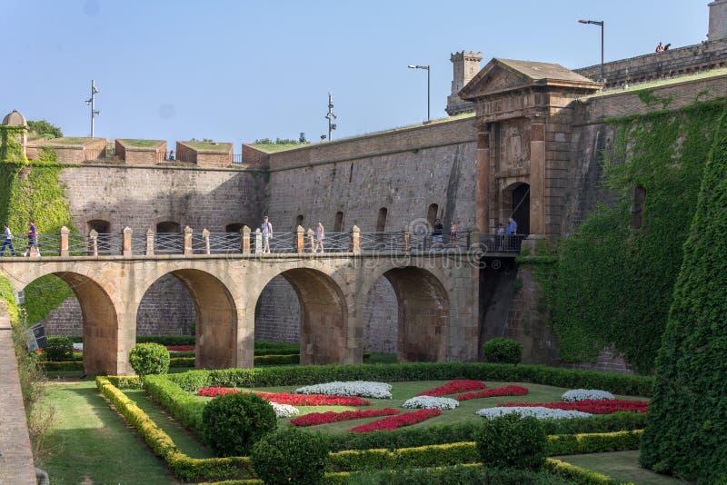 Castell de Montjuic Barcelona fotos de stock