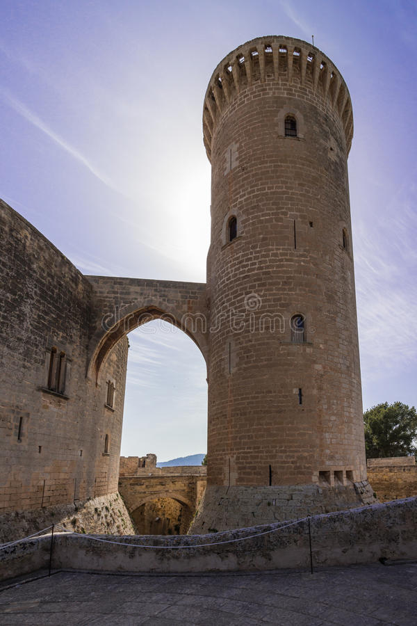 Castell del Bellver royalty-vrije stock foto
