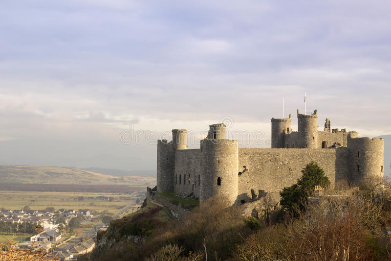 Castell Harlech Wales stock photo