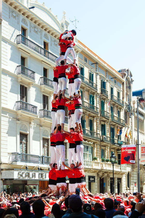 Castell toont in Barcelona royalty-vrije stock afbeelding