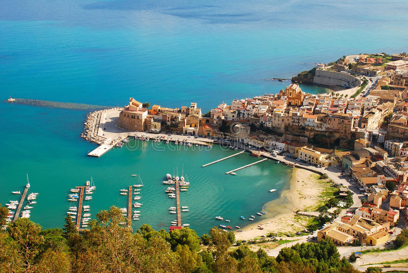 Castellammare del Golfo (Σικελία) στοκ εικόνα