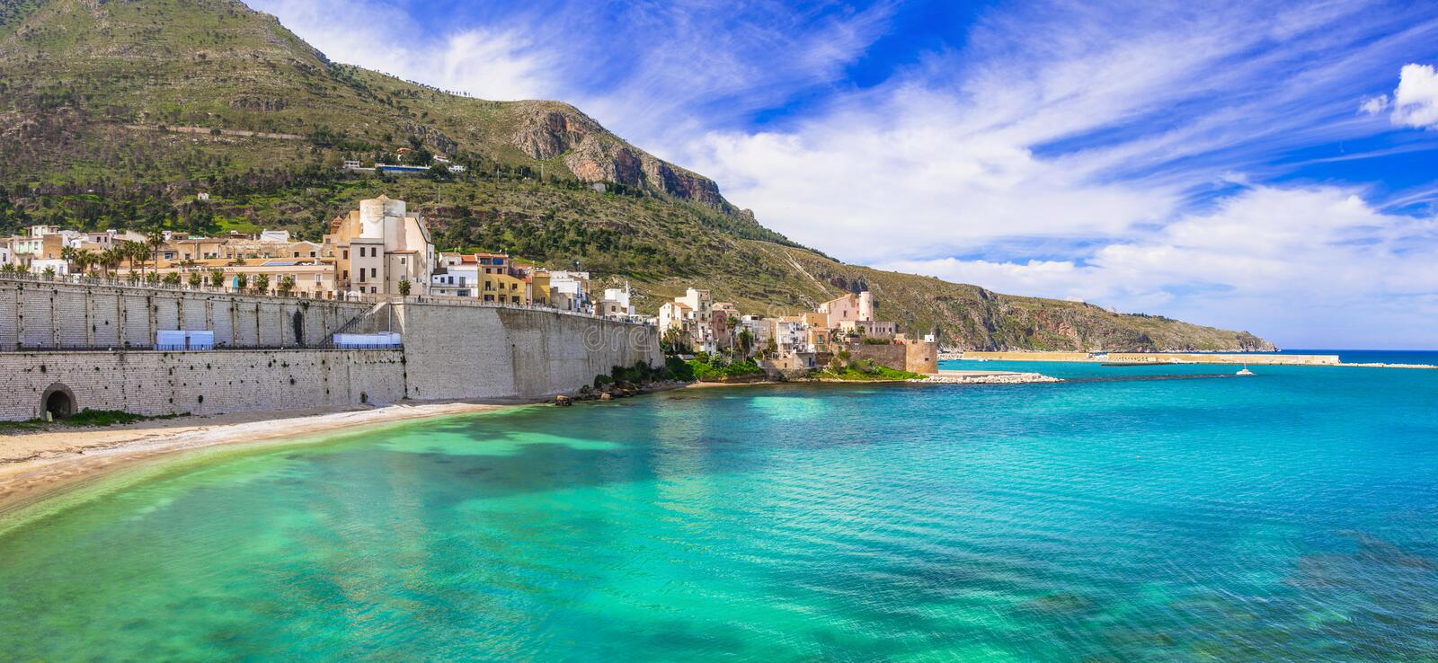 Castellammare del Golfo - beautiful coastal town in Sicily. Italy stock image