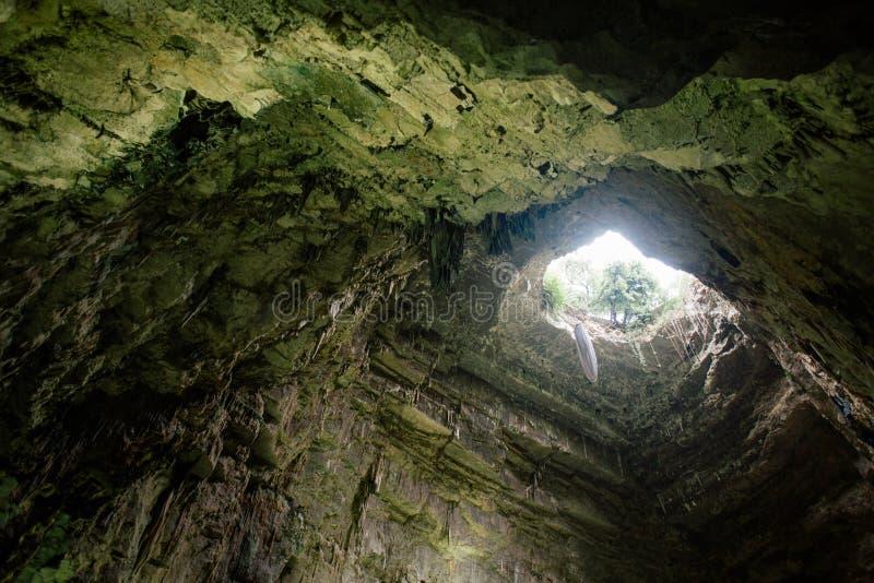 Castellana Grotte frana il apulia Italia fotografia stock