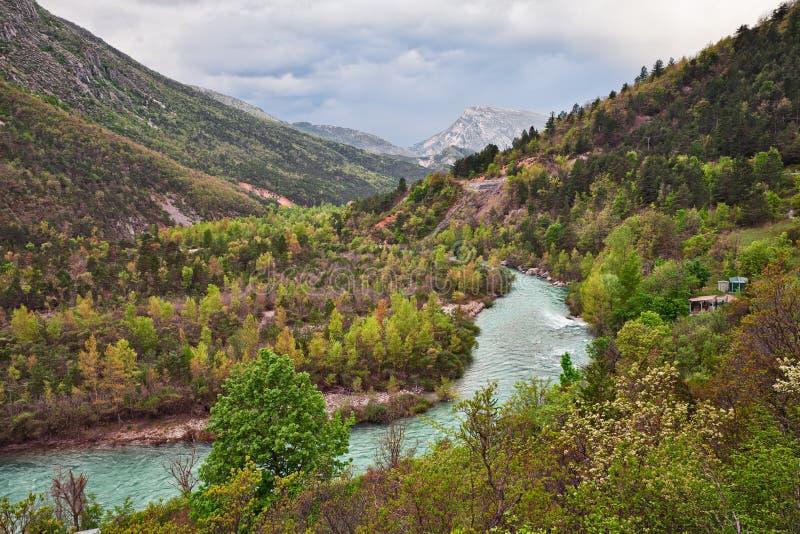 Castellane, Provence, France : paysage des montagnes et image libre de droits