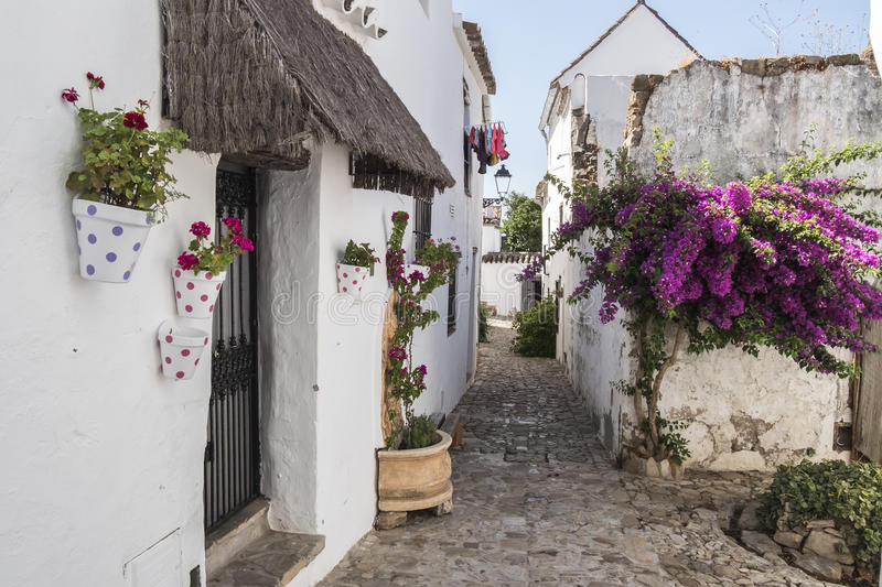 Castellar de la Frontera streets, Andalusia, Spain.  royalty free stock photo