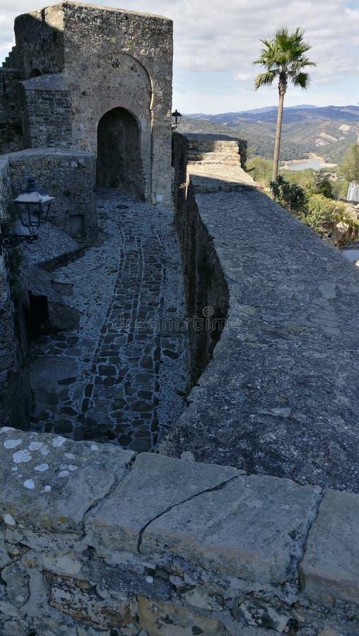 Castellar de los angeles Frontera - Zewnętrzny Castillo zdjęcia royalty free